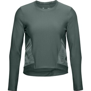 Under Armour Run Anywhere Cropped Long Sleeve T Shirt Womens