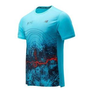 New Balance Virgin London Marathon Print Impact T-Shirt Mens