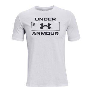 Under Armour Number Script T Shirt Mens
