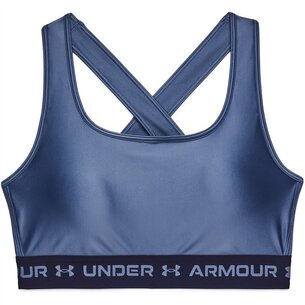 Under Armour Crossback Matte Shiny Sports Bra Womens