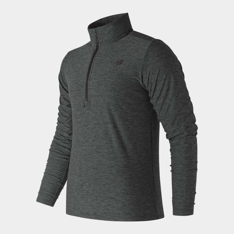 Heather Zip Top Mens