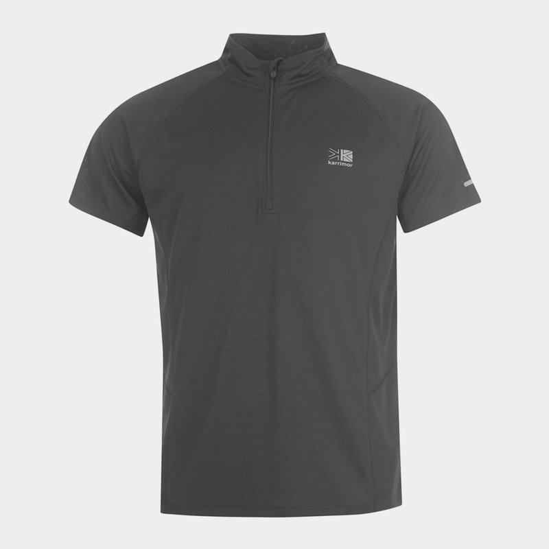Zipped Short Sleeved T-Shirt Mens