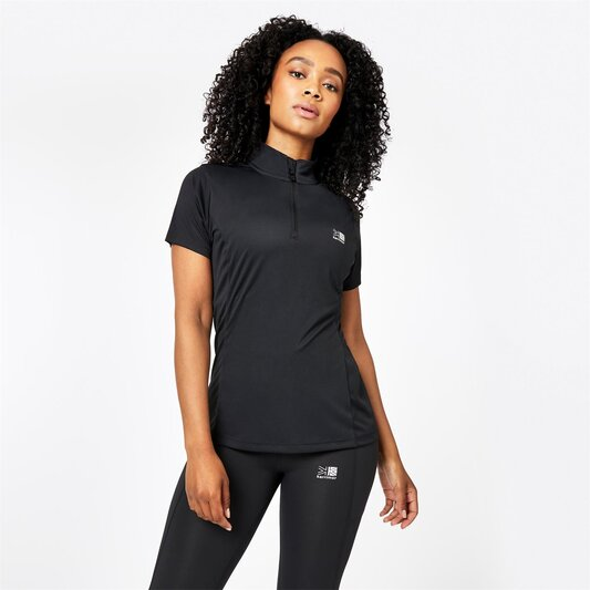 quarter  Zip Short Sleeve T Shirt Ladies