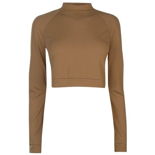 Long Sleeve Crop T Shirt Ladies