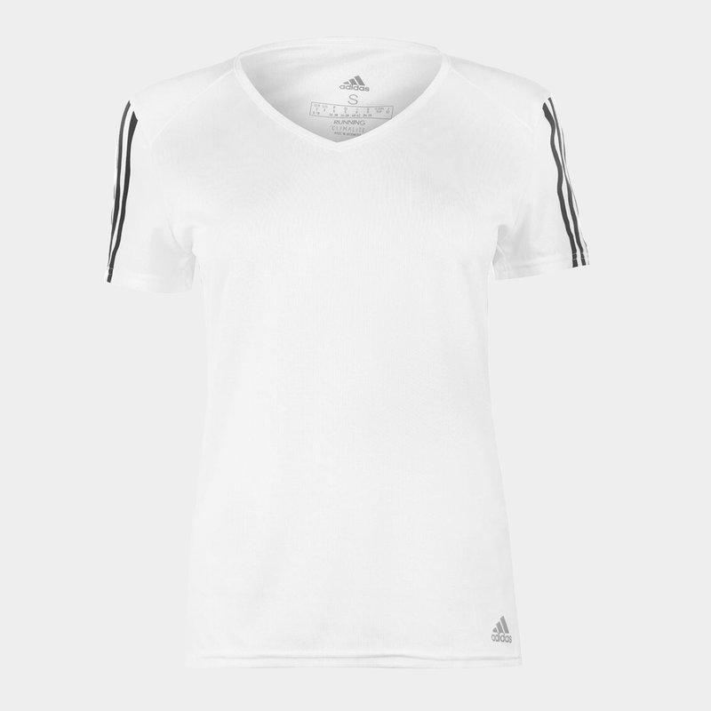Womens Run It 3 Stripes Graphic T Shirt