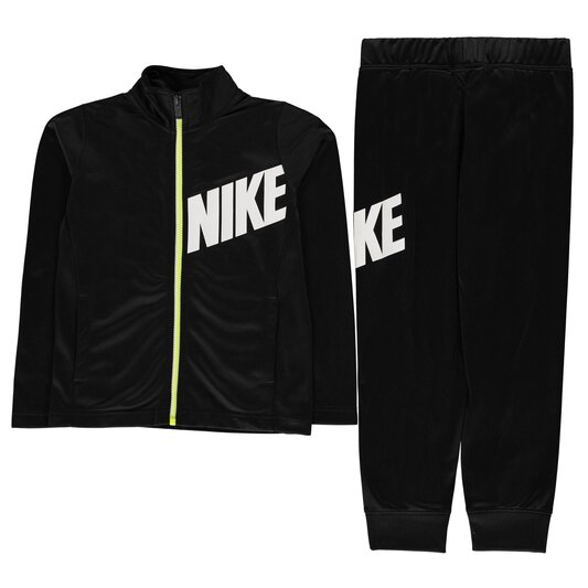 Core Full Zip Polyester Tracksuit Boys Black