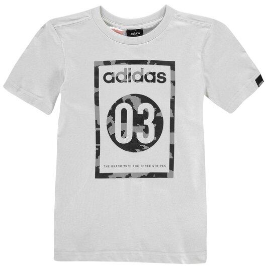Camo QT T Shirt Junior Boys