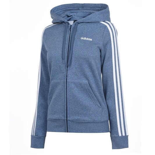 Stripes Zip Fleece Track Top Hoodie