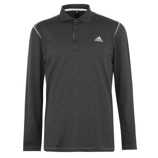 Long Sleeve Therm Polo Shirt Mens