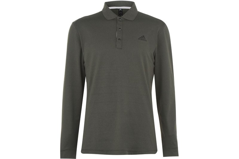 Long Sleeve Therm Polo Shirt Mens