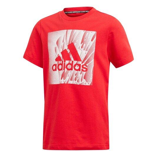 Box Print T Shirt Junior Boys