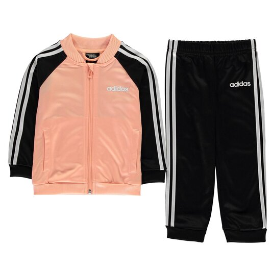 3 Stripe Polo Tracksuit Baby Girls