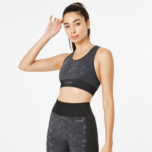 Pro Seamless Wide Strapped Sports Bra