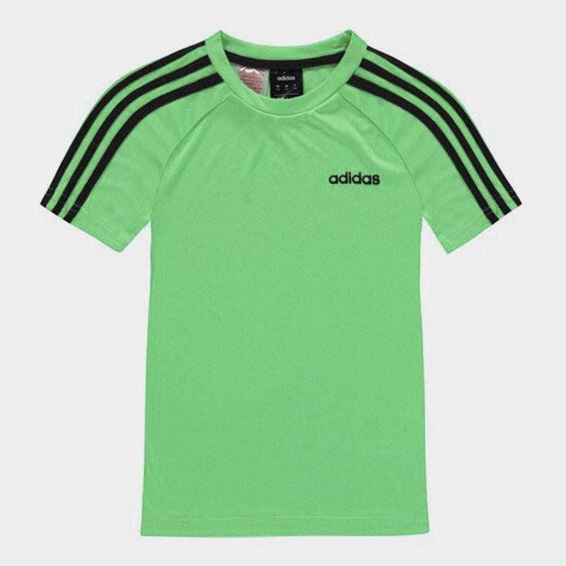 3 Stripe Sereno T Shirt Junior Boys