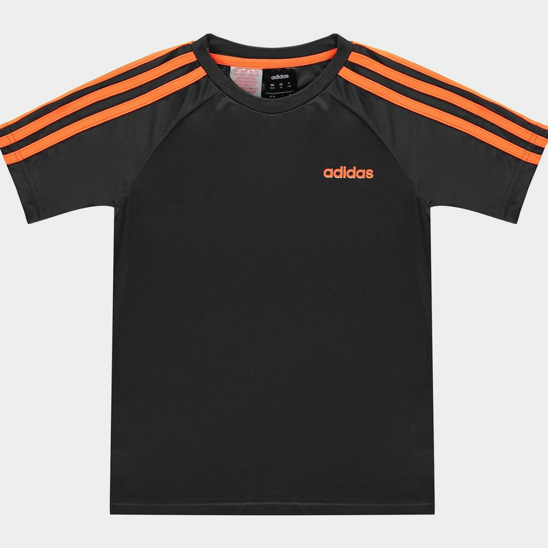 3 Stripe Sereno T Shirt Junior Boys