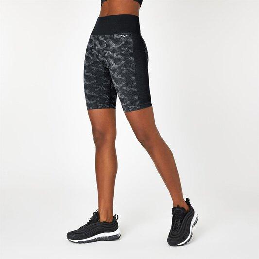 Seamless Camo Cycling Shorts
