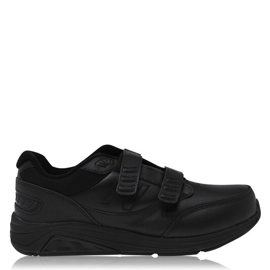 Hook and Loop Mens Leather Trainers
