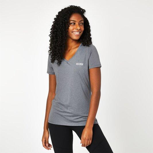 V Neck Mesh T-Shirt