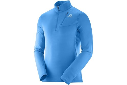 Grid Half Zip Running Midlayer Mens